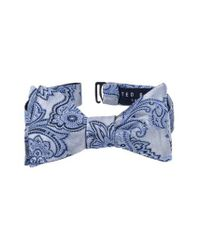 Ted Baker | Blue Downtown Paisley Silk Bow Tie for Men | Lyst