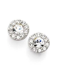 Givenchy   Metallic Small Crystal Stud Earrings   Lyst