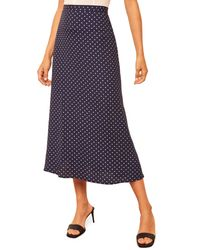 Reformation Blue Bea Midi Skirt