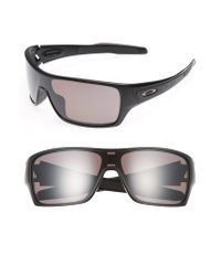 Oakley Black Turbine Rotor 68mm Polarized Sunglasses for men