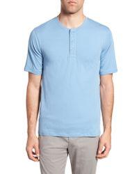 Vince Black Layered Henley T-shirt for men