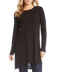 Karen Kane   Black High/low Sweater Tunic   Lyst