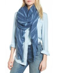 Treasure & Bond - Blue Solid Ribbed Wrap Scarf - Lyst