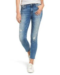 Mavi Jeans Blue Mavi Tess Distressed Raw Edge Jeans