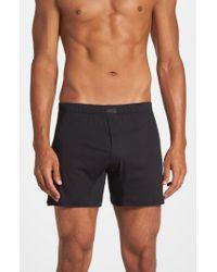 2xist | White Pima Cotton Knit Boxers for Men | Lyst