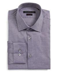 John Varvatos - Purple Regular Fit Dress Shirt for Men - Lyst