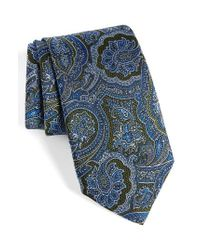 David Donahue | Green Paisley Silk Tie for Men | Lyst
