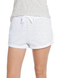 TOPSHOP - White Stripe Pajama Shorts - Lyst