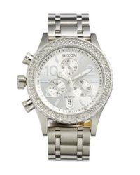 Nixon - Metallic 'the 38-20' Crystal Bezel Chronograph Bracelet Watch - Lyst