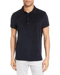 Vilebrequin Black Terry Polo for men