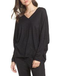 Natori - Black Retreat Sweater Knit Top - Lyst
