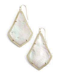 Kendra Scott Natural 'alexandra' Large Drop Earrings
