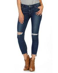 PAIGE | Blue Verdugo Step Hem Ankle Skinny Jeans | Lyst