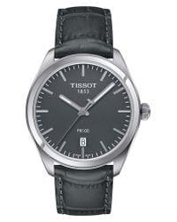 Tissot Metallic 1853 Leather Strap Watch