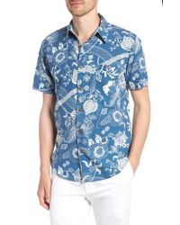 Faherty Brand - Blue Coast Floral Sport Shirt for Men - Lyst
