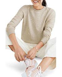 Madewell - Multicolor Daisy Embroidered Sweatshirt - Lyst