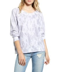 Wildfox White Rose Camo Sommers Sweatshirt