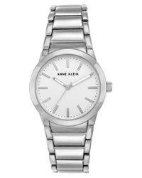 Anne Klein - Metallic Link Bracelet Watch - Lyst
