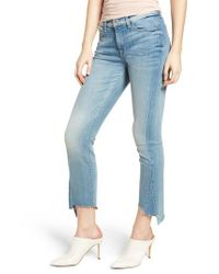 7 For All Mankind - Blue 7 For All Mankind Roxanne Kick Side Cutoff Jeans - Lyst