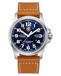 Luminox | Blue 'atacama Field' Leather Strap Watch for Men | Lyst