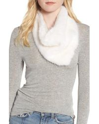 Heurueh - White Triangle Faux Fur Scarf - Lyst