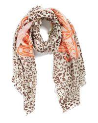 La Fiorentina - Multicolor Mixed Print Wool Scarf - Lyst