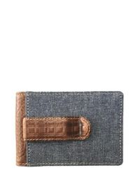 Boconi   Gray Caleb Bifold Wallet With Money Clip for Men   Lyst