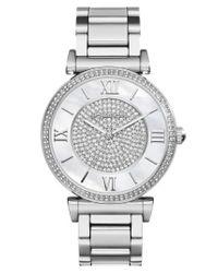MICHAEL Michael Kors   Metallic Michael Kors 'caitlin' Crystal Dial Bracelet Watch   Lyst