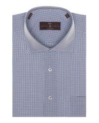 Robert Talbott - Blue Tailored Fit Check Dress Shirt for Men - Lyst