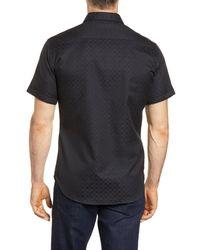 Robert Graham Black Diamante Classic Fit Shirt for men