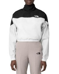 The North Face White Black Series Water Repellent Poplin Funnel Neck Pullover