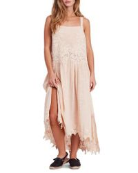 Free People - Pink In Your Arms Applique Maxi Dress - Lyst