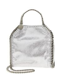 f2b152caf4 Lyst - Stella Mccartney  tiny Falabella  Metallic Faux Leather ...