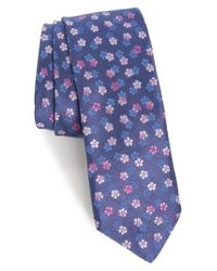 Ted Baker | Blue Ombre Floral Silk Tie for Men | Lyst
