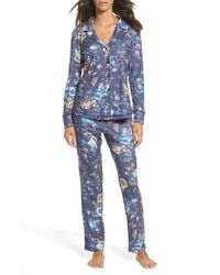 Love+Grace - Blue Clara Flannel Pajamas - Lyst