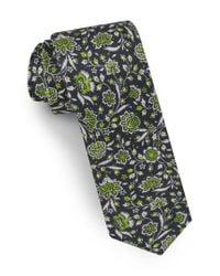 Ted Baker - Green Floral Silk Tie for Men - Lyst