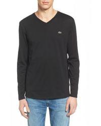 Lacoste | Black Long Sleeve T-shirt for Men | Lyst