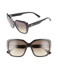Electric - Super Bee 56mm Square Sunglasses - Gloss Black/ Black Gradient - Lyst