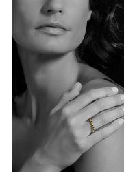 Lagos Metallic Covet Stone Caviar Stack Ring