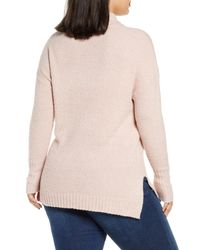 Caslon Pink Caslon Cozy Relaxed Turtleneck Sweater