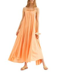 Free People Yellow Endless Summer By Mancora Maxi Dress