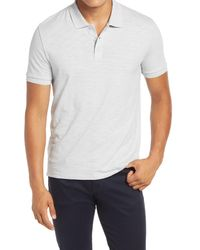 Vince White Classic Slim Fit Polo for men