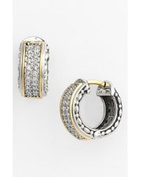 Konstantino Metallic 'diamond Classics' Small Hoop Earrings