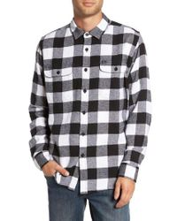 Obey | Black Trent Check Woven Shirt for Men | Lyst