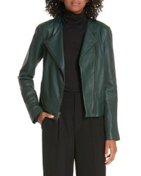 Vince Green Cross Front Leather Jacket