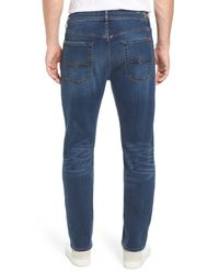 7 For All Mankind Blue 7 For All Mankind The Straight - Luxe Performance Slim Straight Leg Jeans for men