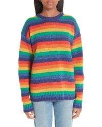 Acne Multicolor Samara Rainbow Multi Basic Sweater