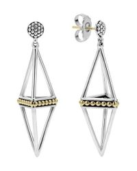 Lagos | Metallic 'ksl' Pyramid Drop Earrings | Lyst