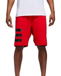 Adidas - Red Hype Icon Shorts for Men - Lyst