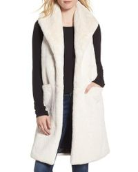 Heurueh - White Heather Faux Mink Fur Vest - Lyst
